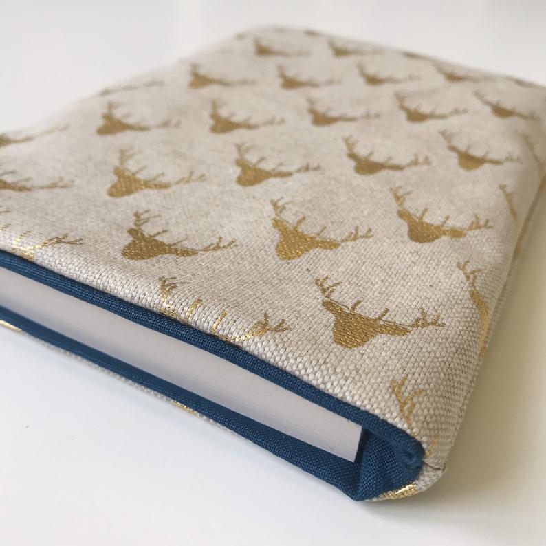Idée cadeau 3 pochette de protection en tissu pour livre